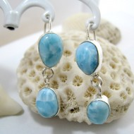 Larimar-Stone Larimar Earrings Drop Oval YO33 11277 49,00 €