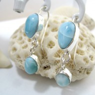 Larimar-Stone Larimar Earrings Drop Oval YO34 11278 49,00 €