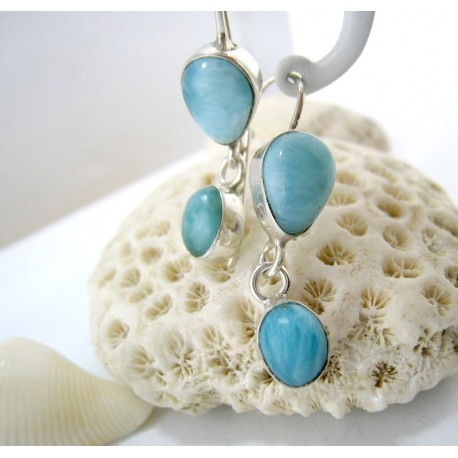 Larimar-Stone Larimar Earrings Drop Oval YO37 11281 49,00 €