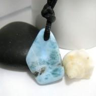 Piedra Larimar perforada con cordón SB219 11290 Larimar-Stone 39,90 €