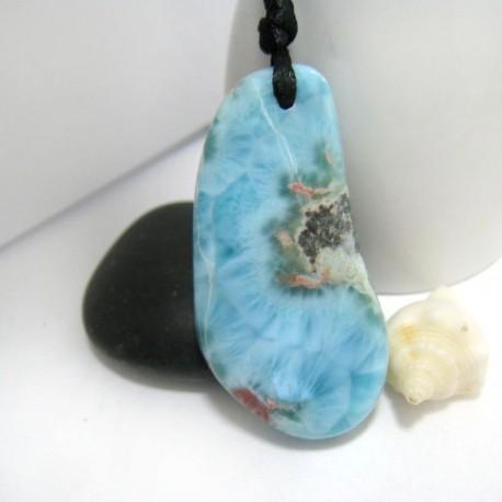 Larimar-Stone XL Larimar Stein mit Bohrung und Band SB220 11291 109,90 €