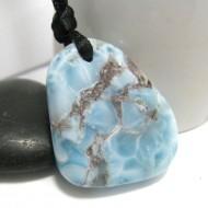 Piedra Larimar perforada con cordón SB234 11305 Larimar-Stone 89,90 €