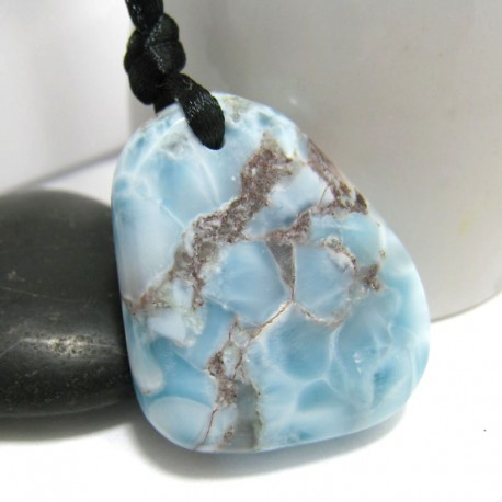Larimar-Stone Larimar Stein mit Bohrung und Band SB234 11305 89,90 €