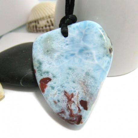 Larimar-Stone Larimar Stein mit Bohrung und Band SB243 11314 99,90 €