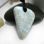 Larimar Stone Polished with drilled hole SB259