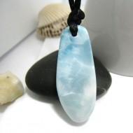 Piedra Larimar perforada con cordón SB260 11331 Larimar-Stone 49,90 €