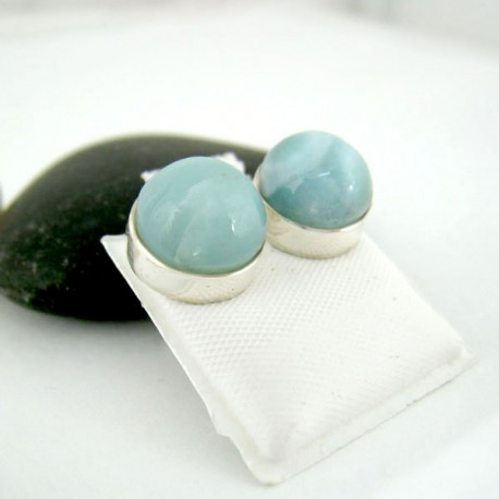 silver larimar products earrings sterling