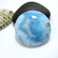 Ларимар круглый кабошон RC37 11401 Larimar-Stone