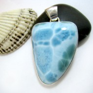 Ларимар kулон свободной форме FR101a 11428 Larimar-Stone