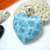 Ларимар ювелирные изделия сердце HZ15 11433 Larimar-Stone