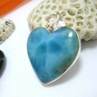 Ларимар ювелирные изделия сердце HZ16 11434 Larimar-Stone