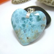 Ларимар ювелирные изделия сердце YH17 10443 Larimar-Stone