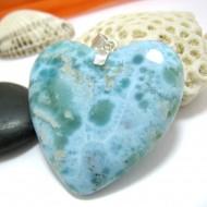 XXL Ларимар ювелирные изделия сердце YH18 10444 Larimar-Stone