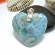 Ларимар ювелирные изделия сердце YH19 10445 Larimar-Stone