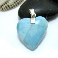 Ларимар ювелирные изделия сердце YH20 10446 Larimar-Stone