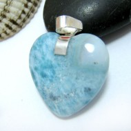 Ларимар ювелирные изделия сердце YH21 10447 Larimar-Stone