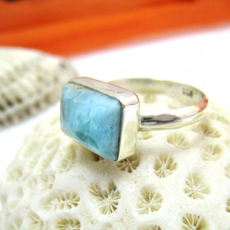 Larimar-Stone Larimar Yamir Ring Viereck LV20 11458 39,90 €