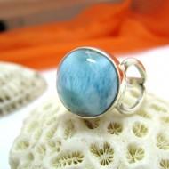 Larimar-Stone Larimar Yamir Ring Round LR10 11459 59,00 €