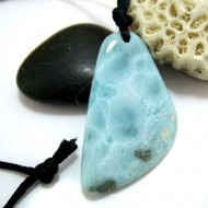 Ларимар камень пробурена с лентой SB262 11463 Larimar-Stone