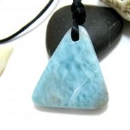 Ларимар камень пробурена с лентой SB265 11466 Larimar-Stone