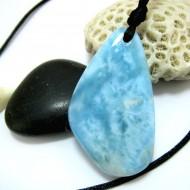 XL Ларимар камень пробурена с лентой SB269 11469 Larimar-Stone
