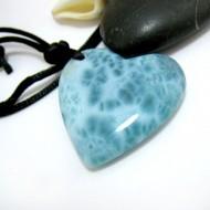 Larimar-Stone Larimar Stone Polished with drilled hole Heart LH1 11480 89,90 €