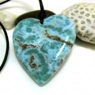 Larimar-Stone XL Larimar Stone Polished with drilled hole Heart HZ5 11487 189,90 €