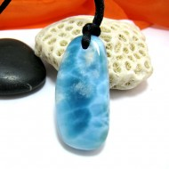 Ларимар камень пробурена с лентой SB286 11495 Larimar-Stone