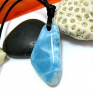 Ларимар камень пробурена с лентой SB287 11496 Larimar-Stone