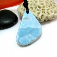 Piedra Larimar perforada con cordón SB291 11500 Larimar-Stone 49,90 €
