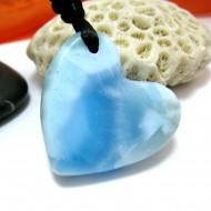 Larimar-Stone Larimar Stein mit Bohrung und Band Herz LH5 11502 89,90 €