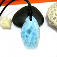 Ларимар камень пробурена с лентой SB294 11504 Larimar-Stone