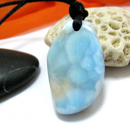 Ларимар камень пробурена с лентой SB300 11510 Larimar-Stone
