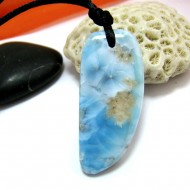 Ларимар камень пробурена с лентой SB306 11516 Larimar-Stone
