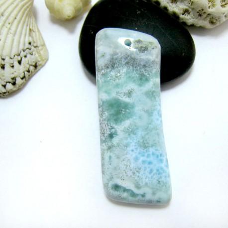Ларимар камень пробурена SB321 11531 Larimar-Stone