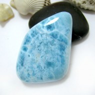 Ларимар галтованный HL84 11564 Larimar-Stone