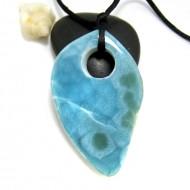 XL Piedra Larimar perforada con cordón SB308 11725 Larimar-Stone 159,90 €