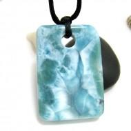 XL Ларимар камень пробурена с лентой SB310 11727 Larimar-Stone
