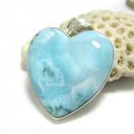 Ларимар ювелирные изделия сердце HZ21 11698 Larimar-Stone