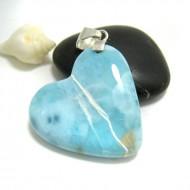 Ларимар ювелирные изделия сердце HZ22 11699 Larimar-Stone
