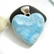 Larimar-Stone Larimar Yamir Pendant Heart HZ23 11701 89,00 €