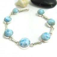 Larimar-Stone Yamir Bracelet 7 Round LC38 11665 89,00 €