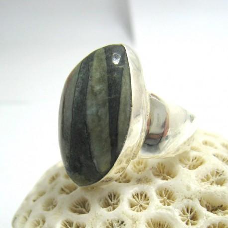 Larimar-Stone Larimar Ring Freeform YF19 Carbon selten 11671 109,90 €