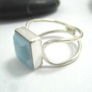 Ларимар Ювелирное кольцо четырехугольник LV21 11673 Larimar-Stone