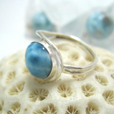 Larimar-Stone Larimar Ring EVA LR12 Rund 11674 49,00 €