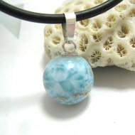Ларимар kулон мяч 03 11676 Larimar-Stone