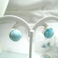 Larimar-Stone Larimar Earrings Round OR26 11697 34,90 €