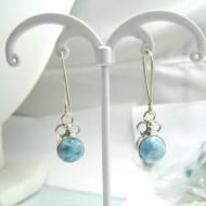 Boucles d'oreilles Larimar rond YO39 11696 Larimar-Stone 39,00 €