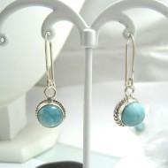 Boucles d'oreilles Larimar rond YO40 11690 Larimar-Stone 39,00 €