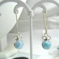 Larimar-Stone Larimar Earrings Round YO41 11691 39,00 €